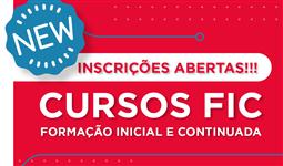 NOVOS CURSOS DE FORMAÇÃO INICIAL E CONTINUADA